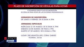 Consulado en Colombia en Miami recuerda el plazo de inscripción de cédulas para votar