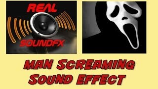 Man screaming scared horror sound effect - realsoundFX