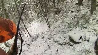 Lov divlje svinje. Snijeg na Manjači 2016