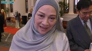 Borak dgn Ibu Ismail Izzani Datin Suliza Salam di Resepsi Shila Amzah