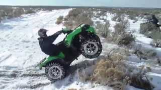 kawasaki Brute Force 750 High Jumping and Wheelies