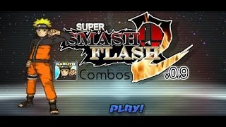 Super Smash Flash 2 v0.9 - Naruto Combo Video