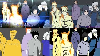 Naruto Shippuden Opening 16 Paint Version Comparison/Comparación