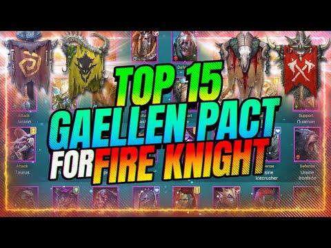 TOP 15 FIRE KNIGHT Gaellen Pact Champs! Tourney TOMORROW! | RAID Shadow Legends