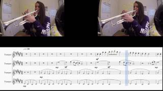 Somebody That I Used To Know by Gotye - Pentatonix arr. (Trumpet quartet cover w/sheet music)