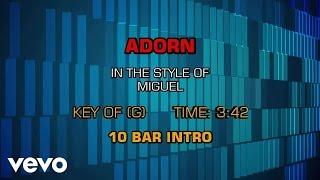 Miguel - Adorn (Karaoke)