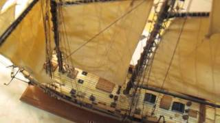 Video guida per costruire un modello di veliero; modello finito