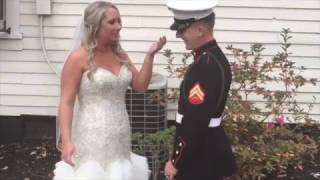 Beautiful Video - Marine surprises big sister on her wedding day