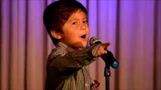 Les Mis Medley - Look Down, Do You Hear the People Sing, Who am I - Sung by Abraham - 6 Years Old