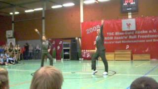 A-Klasse Grit Bothe Falk Bothe - LM Niedersachsen Buckeburg 2008 Endrunde Akro