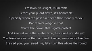 6LACK - Pretty Little Fears (ft. J. Cole) (Lyrics)