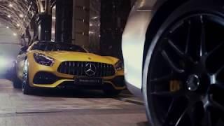 Mercedes-AMG GT C на крыше Ritz-Carlton Moscow