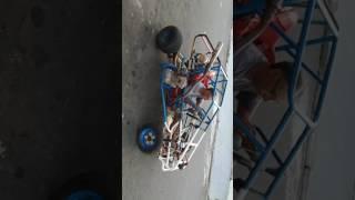 Testando kart cross freio