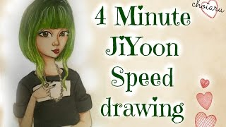 4Minute (포미닛) JiYoon (지윤) Illustration - Crazy 미쳐