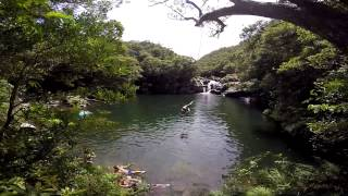 Aha Falls Cliff Jumping Okinawa Prefecture, Japan