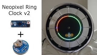 Adafruit Neopixel Ring Clock v2 - Baba Awesam