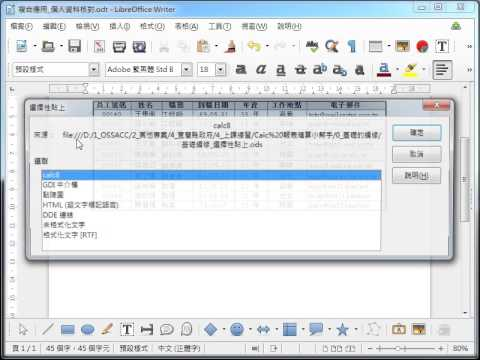 LibreOffice Calc 教學_選擇性貼表格連結