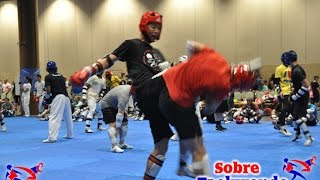 Taekwondo training. Choice reaction and tremendous sparring