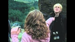 Hermione dando um soco em Draco.