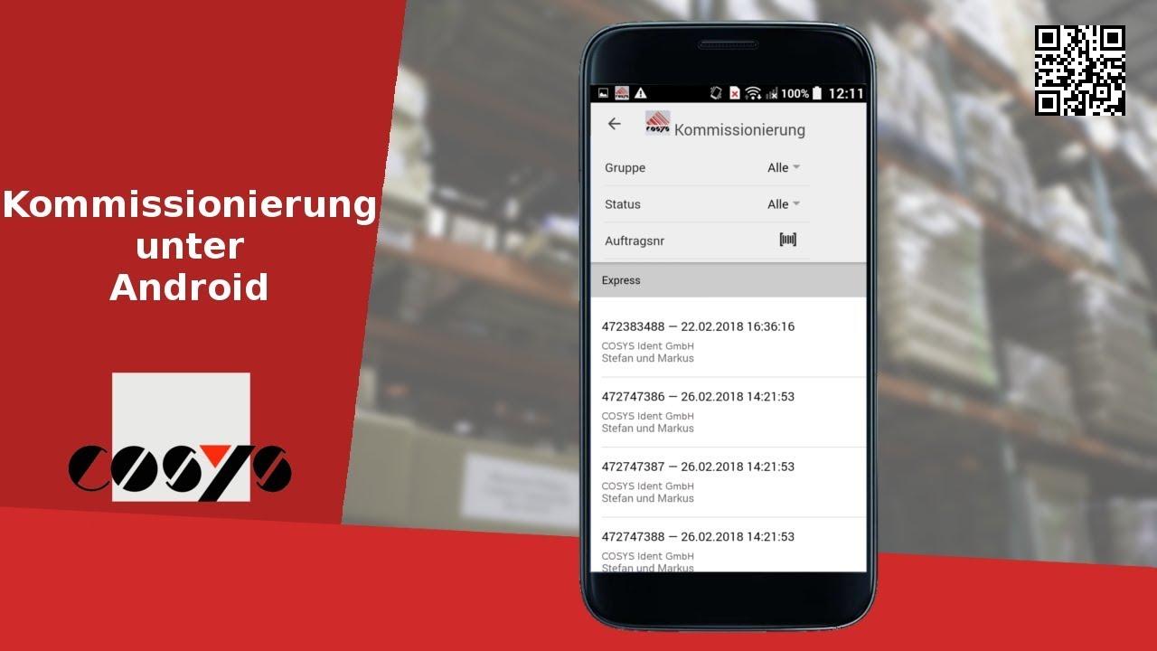 Kommissionierung unter Android - COSYS mobile Software für die Kommissionierung
