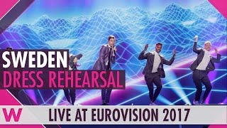 "Sweden: Robin Bengtsson ""I Can't Go On"" semi-final 1 dress rehearsal @ Eurovision 2017"