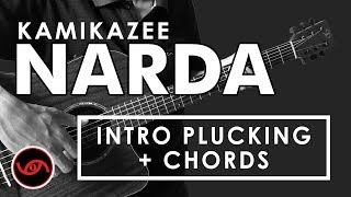 Narda - Kamikazee INTRO PLUCKING + CHORDS Beginner Tutorial (EASY)