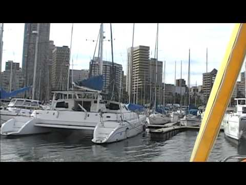 "South Africa/Durban Marina travelling by catamaran ""Dolphin Spirit"""