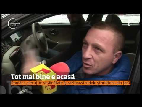 Românii plecați în străinătate vin acasă de sărbători