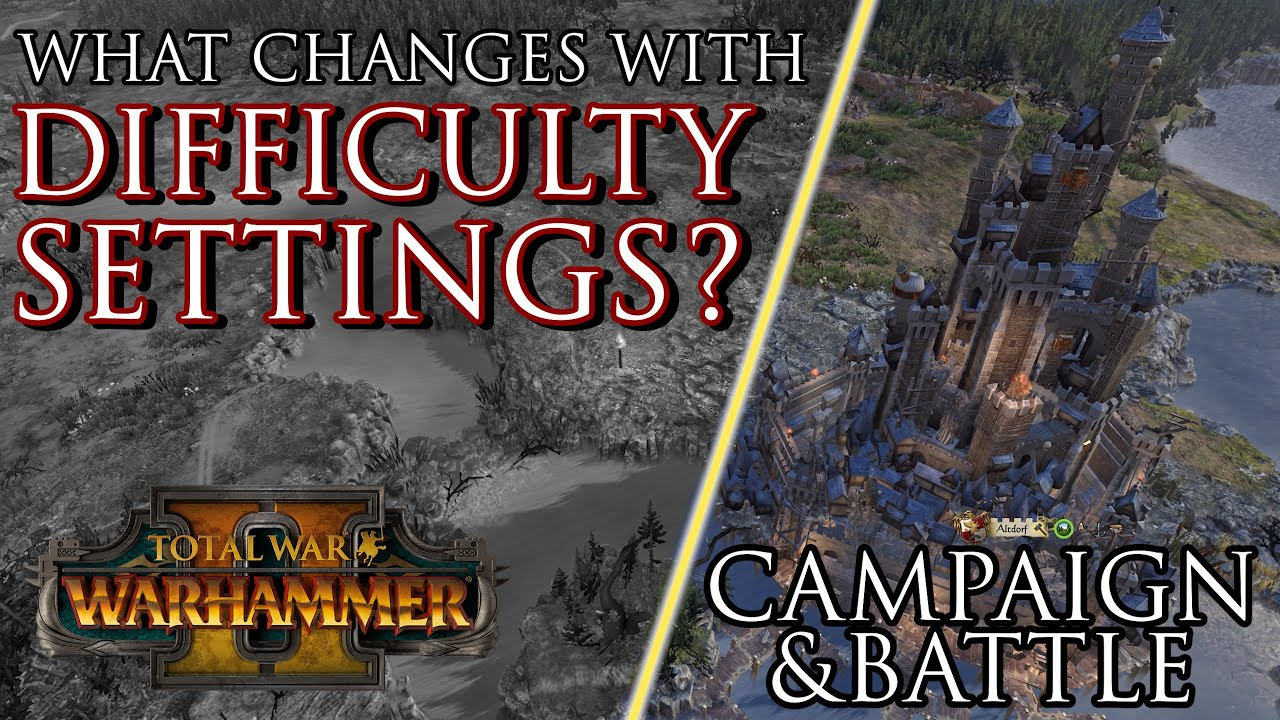 Zerkovich - What CHANGES with DIFFICULTY settings? - Warhammer 2