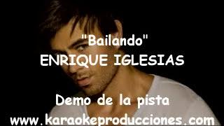 """Enrique Iglesias """"Bailando""""  DEMO PISTA KARAOKE INSTRUMENTAL"""