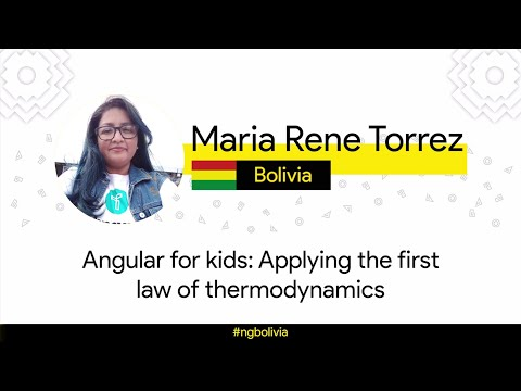 Angular for kids: Applying the first law of thermodynamics