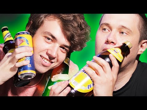 Extremely Drunk Russians Try The Cheapest Russian Beer