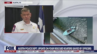 Austin lake rescue: Officers save women from boat hanging over the edge of a dam