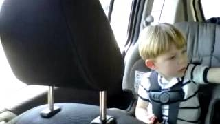 Toddler singing life is a highway