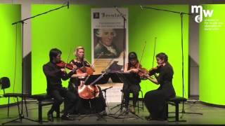 Pacific Quartet Vienna, W.A. Mozart Streichquartett KV 421 d-moll, 3. Menuetto: Allegretto – Trio