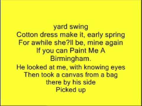 Paint Me A Birminghamdssgwormjr Chords Chordify