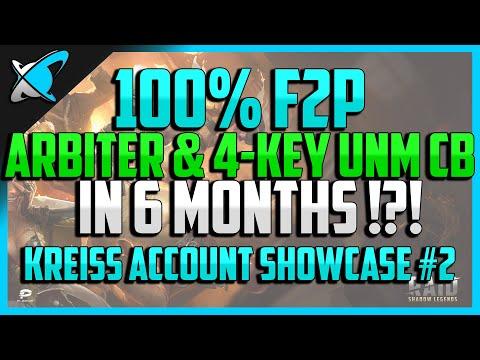 RAID: Shadow Legends | 100% F2P ARBITER & 4-KEY UNM CB IN 6 MONTHS !! | Kreiss Account Showcase #2
