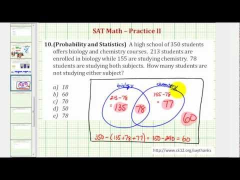 Venn diagrams ck 12 foundation sat math probability and statistics practice 210 ccuart Image collections