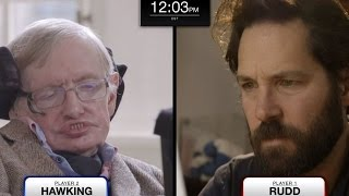 Stephen Hawking faces Paul Rudd in epic chess match (feat. Keanu Reeves) width=