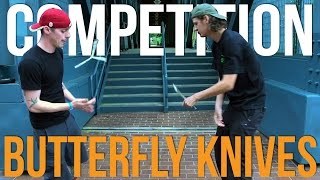 Competition Butterfly Knives | Basilisk-R Flipping Battle Blade Show 2016