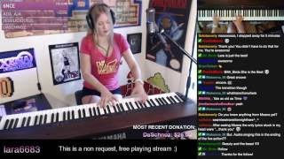 Lara plays Beauty and the Beast ft. squeaky piano seat