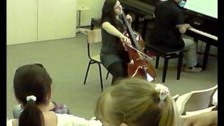 Lara Bojadzieva playing The Swan - Saint-Saens