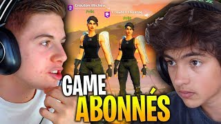 GAME ABONNÉS TOTALEMENT INSANE SUR FORTNITE BATTLE ROYALE !!!