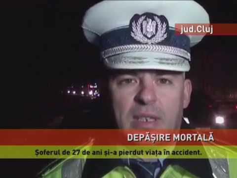 Accident tragic pe o șosea din județul Cluj