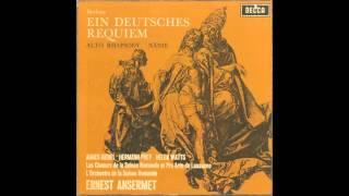 Silent Tone Record/ブラームス:ドイツ・レクイエム,悲歌,アルト・ラプソディー/エルネスト・アンセルメ指揮スイス・ロマンド管弦楽団、アグネス・ギーベル、ヘルマン・プライ
