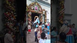 Salida De La Patrona Del Pueblo Atzacan 2017