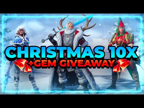 HOLIDAY 10X! BIG GEM GIVEAWAY! RAID Shadow Legends