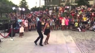 Amy Dominguez and Stephen Ray perform to Saoco Siempre sere guajiro