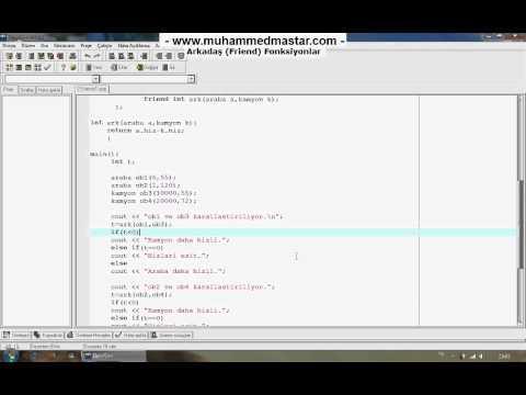 C++ Dersleri 27 - 2.Kısım otobüs sefer saatleri otobus.org