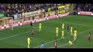 Dani Alves eats banana thrown at him Villarreal vs Barcelona 27 04 14 HD  NEW